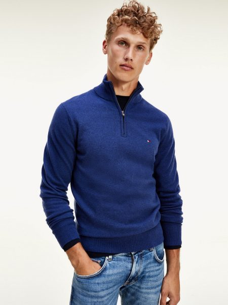 Pull col zipé Homme Tommy Hilfiger MW0MW15770
