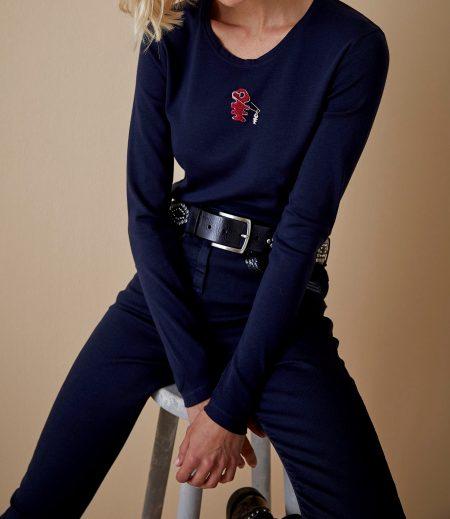 Tee-shirt manches longues Femme Diplodocus DTLS183