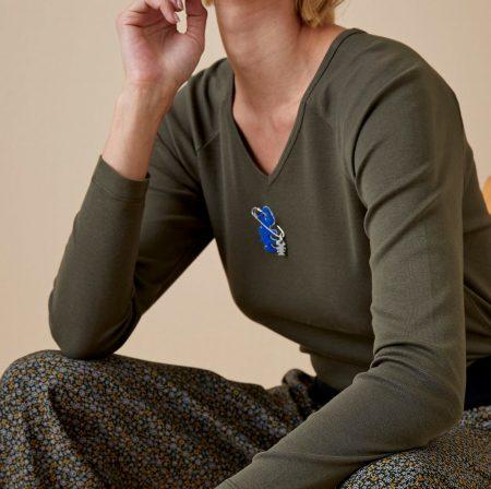 Tee-shirt manches longues Femme Diplodocus DTLS184
