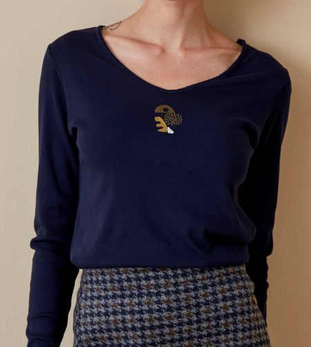 Tee-shirt manches longues Femme Diplodocus DTLS 186
