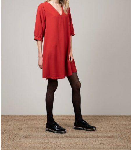 Robe col V  Femme Pako Litto R2496
