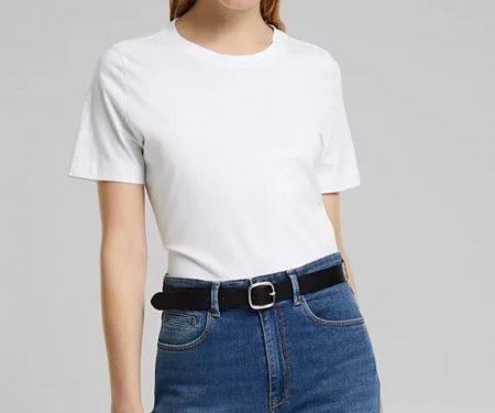Tee-Shirt Basique Esprit Blanc 011EO1K314