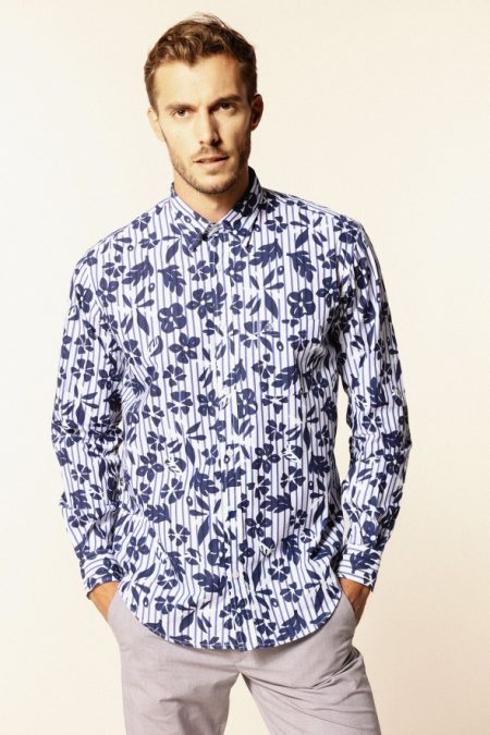 Chemises manches longues Serge Blanco CHL2260A17653SB