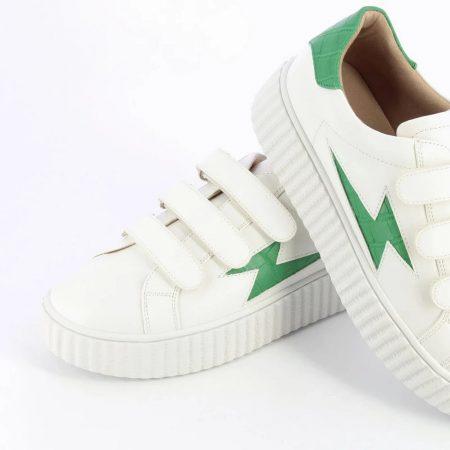 Baskets éclair vert Vanessa Wu