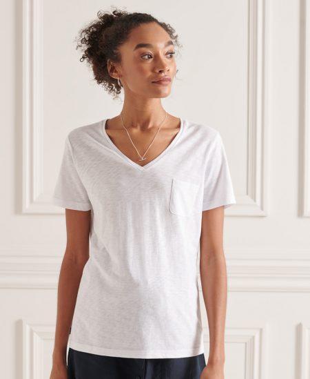Tee-shirt col V Super Dry