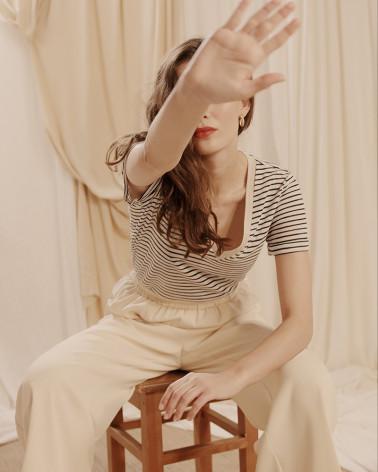 Tee-shirt col V Grace & Mila