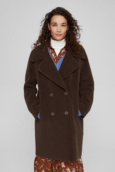 Manteau à teneur en laine Esprit