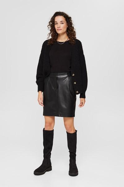 Mini-jupe en simili cuir Esprit