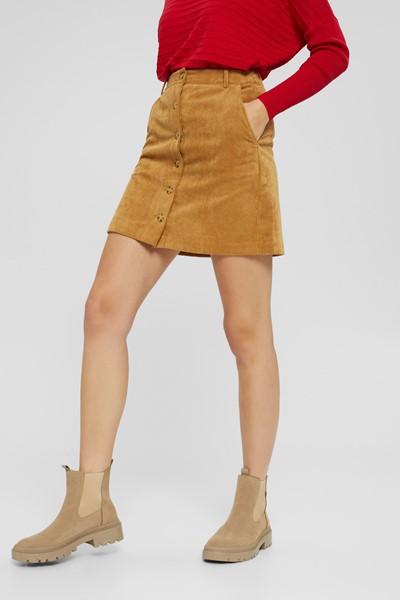 Mini-jupe en velours Esprit